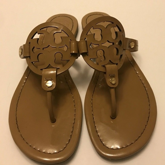 670e78aac Tory Burch Shoes - Tory Burch Miller Sandals Patent Leather Size 7